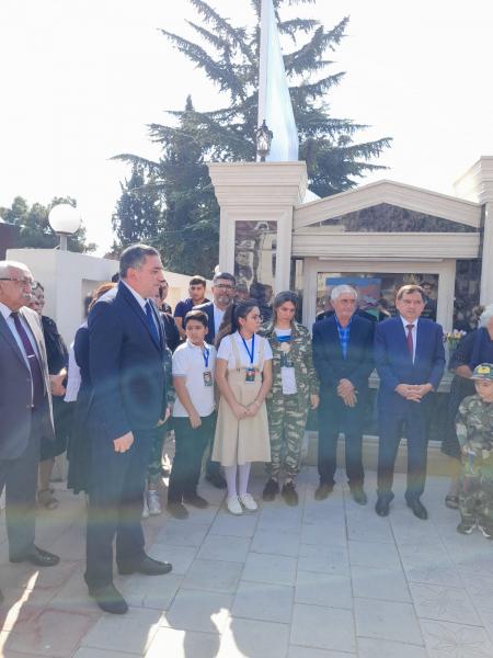 Qazaxda şəhidin adına inşa  edilən  bulağın açılışı oldu.
